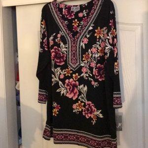 NWT sz 3x black floral top